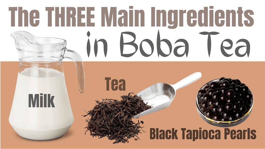 boba tea main ingredients