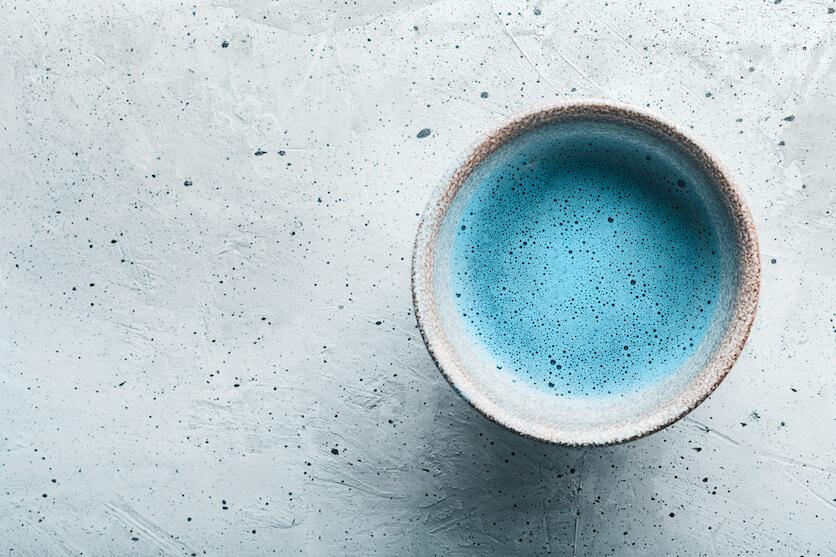 blue matcha latte