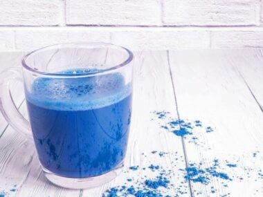 blue matcha tea