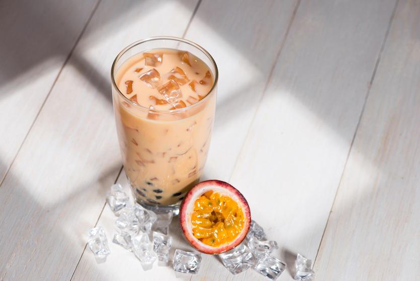 taro ice milk tea
