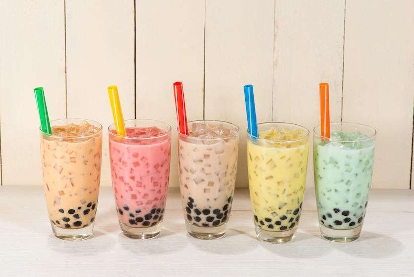 Taro milk teas