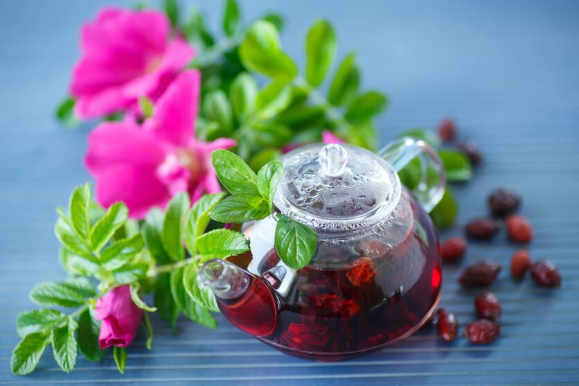 drinking rosehip tea every day