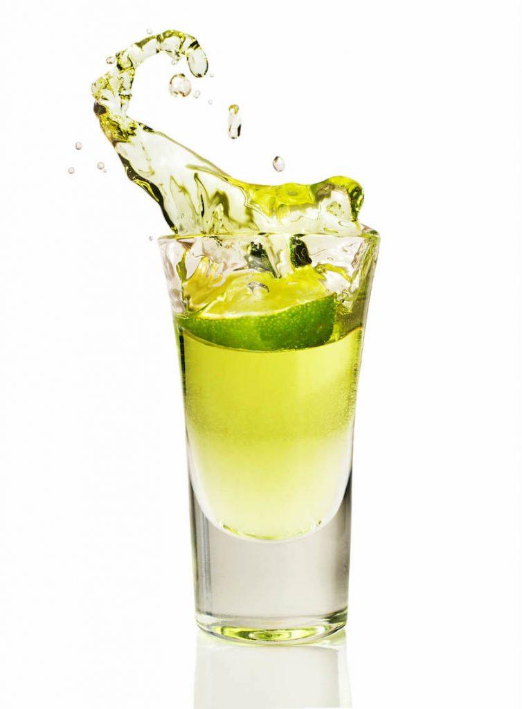 green tea shot with jameson