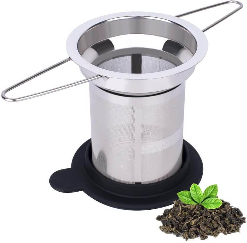 mesh tea strainer double handle
